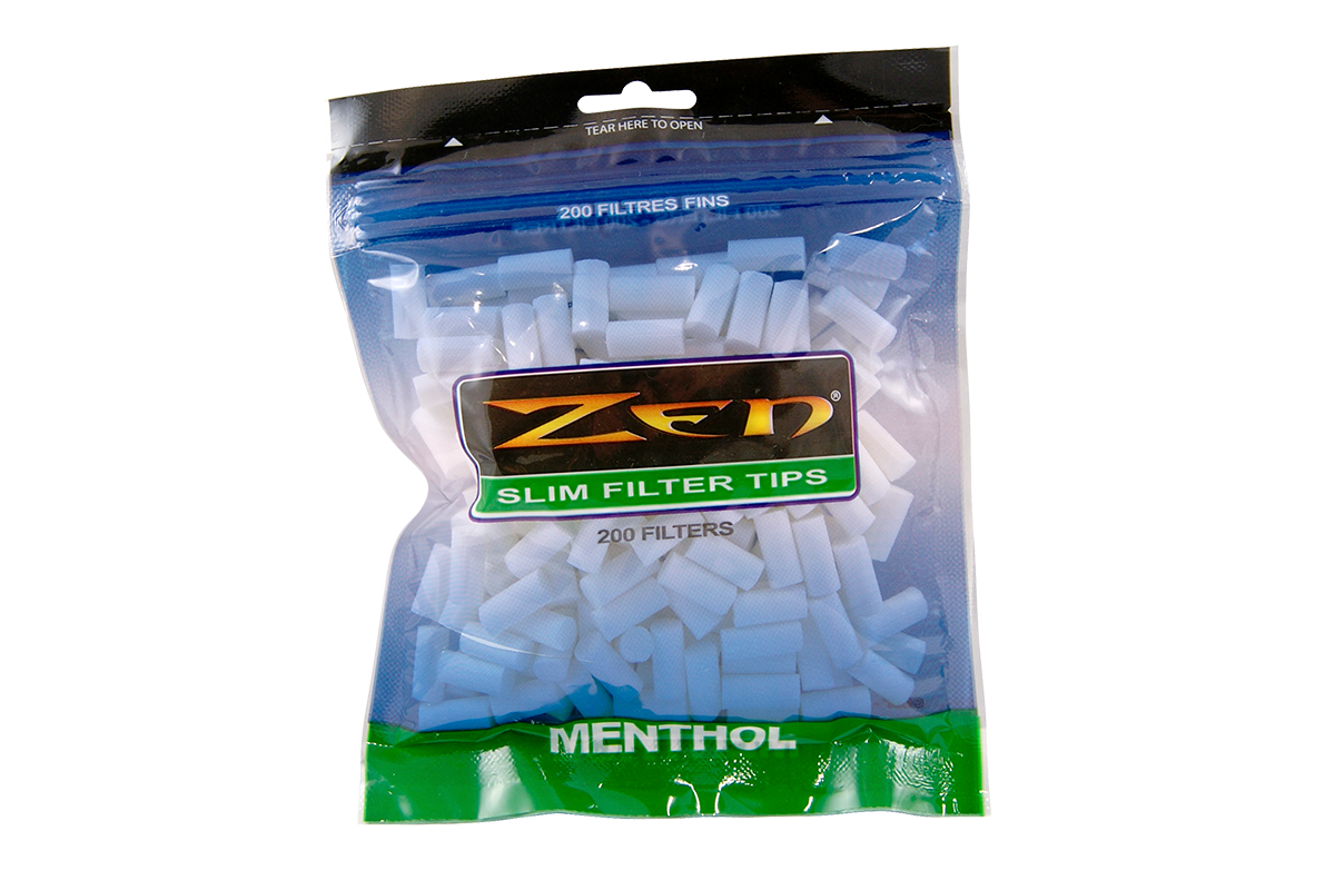 Zen Premium Menthol Slim Cigarette Filter Tips