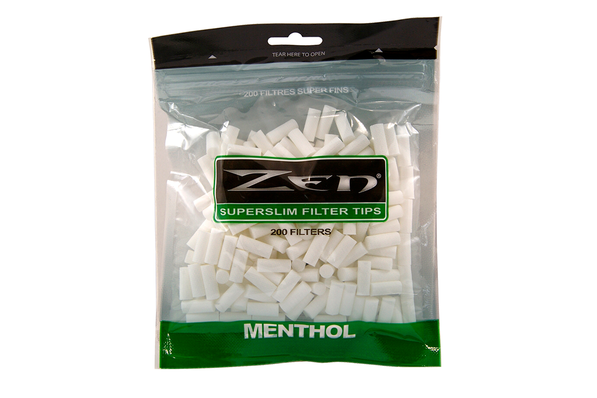 Zen Premium Menthol Superslim Cigarette Filter Tips