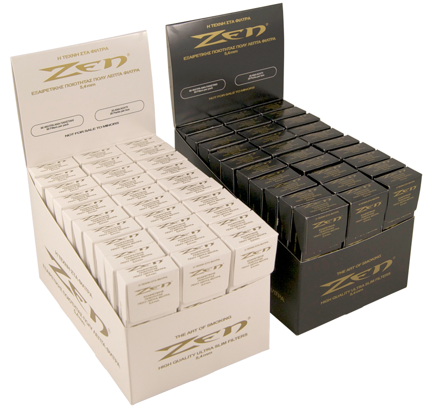 Zen Ultra Slim Cigarette Filters Box Display